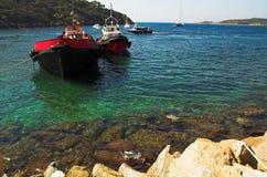κυανό νησί δ υπόστεγων φορ&t Στοκ φωτογραφίες με δικαίωμα ελεύθερης χρήσης