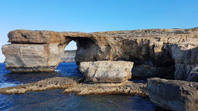 Κυανό νησί Gozo παραθύρων Στοκ Φωτογραφίες