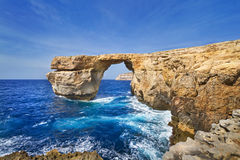 Κυανό παράθυρο στο νησί Gozo, Μάλτα Στοκ Εικόνα