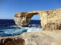 Κυανό παράθυρο Dwejra, Gozo, Μάλτα Στοκ εικόνες με δικαίωμα ελεύθερης χρήσης