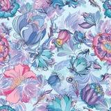 Κυανό Floral διανυσματικό σχέδιο Στοκ Φωτογραφία