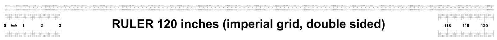 Κυβερνήτης 120 ίντσες αυτοκρατορικός Η τιμή τμήματος είναι 1/32 ίντσα Διπλάσιο κυβερνητών που πλαισιώνεται Ακριβές μετρώντας εργα ελεύθερη απεικόνιση δικαιώματος