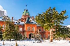 Κυβερνητικά γραφεία του Hokkaido το χειμώνα Στοκ φωτογραφίες με δικαίωμα ελεύθερης χρήσης