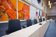 Κυβερνητικός πάγκος στο αυστριακό Κοινοβούλιο Στοκ Εικόνες