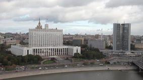 Κυβερνητικό σπίτι, Μόσχα, Ρωσία απόθεμα βίντεο