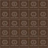 Κυβικά γραμμικά διανυσματικά λογότυπα πλαισίων μορφής καθορισμένα Στοκ Εικόνες