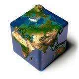 κυβικός γήινος ωκεανός &delt διανυσματική απεικόνιση