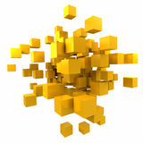 κυβικός πορτοκαλής κίτρ&io Στοκ Εικόνες
