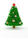 κυβικό δέντρο Χριστουγέν&nu Στοκ Φωτογραφίες