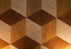 Κυβικό ξύλινο υπόβαθρο μορφής Στοκ εικόνα με δικαίωμα ελεύθερης χρήσης
