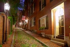 Κυβόλινθος Βοστώνη Hill αναγνωριστικών σημάτων οδών βελανιδιών στοκ φωτογραφίες