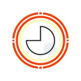 Κυκλικά γραφικά διανυσματικά σημάδι και σύμβολο εικονιδίων που απομονώνονται στο άσπρο β απεικόνιση αποθεμάτων