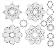 κυκλικά στοιχεία σχεδί&omi Στοκ Εικόνες