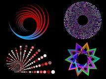 κυκλικά σχέδια διανυσματική απεικόνιση