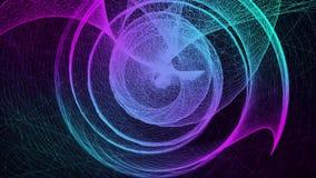 Κυκλική αφηρημένη χοάνη φιαγμένη από χρωματισμένες γεωμετρικές γραμμές διανυσματική απεικόνιση