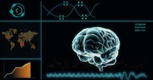 Κυκλική γραφική παράσταση με το βαθύ υπολογιστή εκμάθησης στοιχείων προσφοράς σημείων στοιχείων διανυσματική απεικόνιση