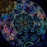 Κυκλική διακόσμηση, delf και κοχύλι διάτρητων που χρωματίζονται Στοκ φωτογραφίες με δικαίωμα ελεύθερης χρήσης