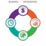 Κυκλικός αφηρημένος infographic με τέσσερις επιλογές, διανυσματική απεικόνιση, EPS 10 ελεύθερη απεικόνιση δικαιώματος