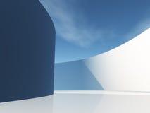 Κυκλικός διάδρομος με τον ουρανό απεικόνιση αποθεμάτων
