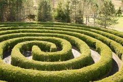 κυκλικός λαβύρινθος Στοκ φωτογραφία με δικαίωμα ελεύθερης χρήσης