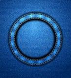 Κυκλικό μπάλωμα τζιν Στοκ Φωτογραφίες