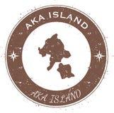 Κυκλικό πατριωτικό διακριτικό νησιών Aka Διανυσματική απεικόνιση