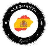 Κυκλικό πατριωτικό διακριτικό Alegranza ελεύθερη απεικόνιση δικαιώματος