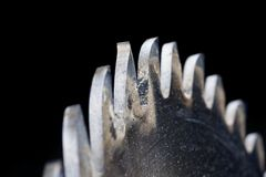 κυκλικό πριόνι λεπίδων Στοκ εικόνα με δικαίωμα ελεύθερης χρήσης
