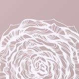 κυκλικό συρμένο floral χέρι ανα& Στοκ Εικόνα