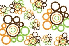 κυκλικό σχέδιο αναδρομ&iota Στοκ φωτογραφία με δικαίωμα ελεύθερης χρήσης