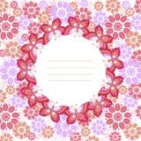 Κυκλικό σχέδιο πεταλούδων σε ένα floral υπόβαθρο Στοκ εικόνες με δικαίωμα ελεύθερης χρήσης