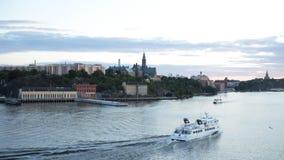 Κυκλοφορία βαρκών στα προάστια της Στοκχόλμης, Σουηδία φιλμ μικρού μήκους