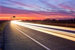 κυκλοφορία ηλιοβασιλ Στοκ φωτογραφίες με δικαίωμα ελεύθερης χρήσης