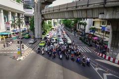 Κυκλοφορία κεντρικός στη Μπανγκόκ, Ταϊλάνδη Στοκ φωτογραφία με δικαίωμα ελεύθερης χρήσης