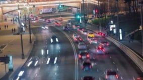 Κυκλοφορία νύχτας timelapse απόθεμα βίντεο