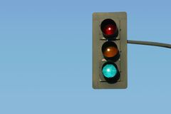 κυκλοφορία πράσινου φωτός Στοκ φωτογραφία με δικαίωμα ελεύθερης χρήσης