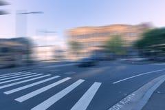 Κυκλοφορία πόλεων του Σίδνεϊ, θολωμένος δρόμος Στοκ φωτογραφία με δικαίωμα ελεύθερης χρήσης