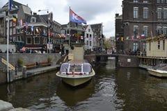 Κυκλοφορία σκαφών στο Άμστερνταμ Στοκ Εικόνα