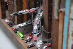 Κυκλοφορία στην πόλη σιδήρου στοκ φωτογραφία με δικαίωμα ελεύθερης χρήσης