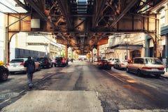 Κυκλοφορία στην πόλη, Σικάγο Στοκ φωτογραφίες με δικαίωμα ελεύθερης χρήσης