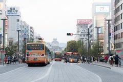Κυκλοφορία στο δρόμο στο κάστρο Himaji στην Ιαπωνία Στοκ Φωτογραφίες