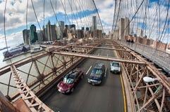 κυκλοφορία του Μπρούκλιν γεφυρών στοκ φωτογραφία με δικαίωμα ελεύθερης χρήσης