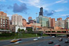 κυκλοφορία του Σικάγο Στοκ φωτογραφία με δικαίωμα ελεύθερης χρήσης