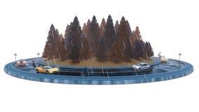 Κυκλοφορία φθινοπώρου, που απομονώνεται στο άσπρο υπόβαθρο στοκ φωτογραφίες με δικαίωμα ελεύθερης χρήσης