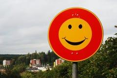 κυκλοφορία smiley σημαδιών Στοκ φωτογραφίες με δικαίωμα ελεύθερης χρήσης