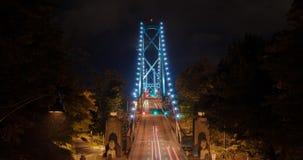 Κυκλοφορία Timelapse ώρας κυκλοφοριακής αιχμής γεφυρών του Βανκούβερ Lionsgate απόθεμα βίντεο