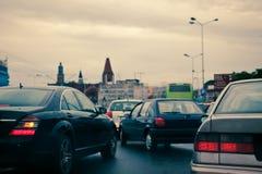 Κυκλοφοριακή συμφόρηση στην πόλη στοκ εικόνα με δικαίωμα ελεύθερης χρήσης