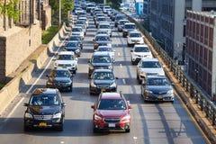 Κυκλοφοριακή συμφόρηση στο Μπρούκλιν βασίλισσες Expressway στοκ φωτογραφία με δικαίωμα ελεύθερης χρήσης