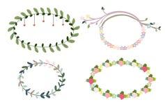 Κυκλίσκοι άνοιξη των λουλουδιών και των μούρων Διανυσματική απεικόνιση