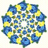Κυκλίσκος του λουλουδιού επίσης corel σύρετε το διάνυσμα απεικόνισης Στοκ Φωτογραφίες